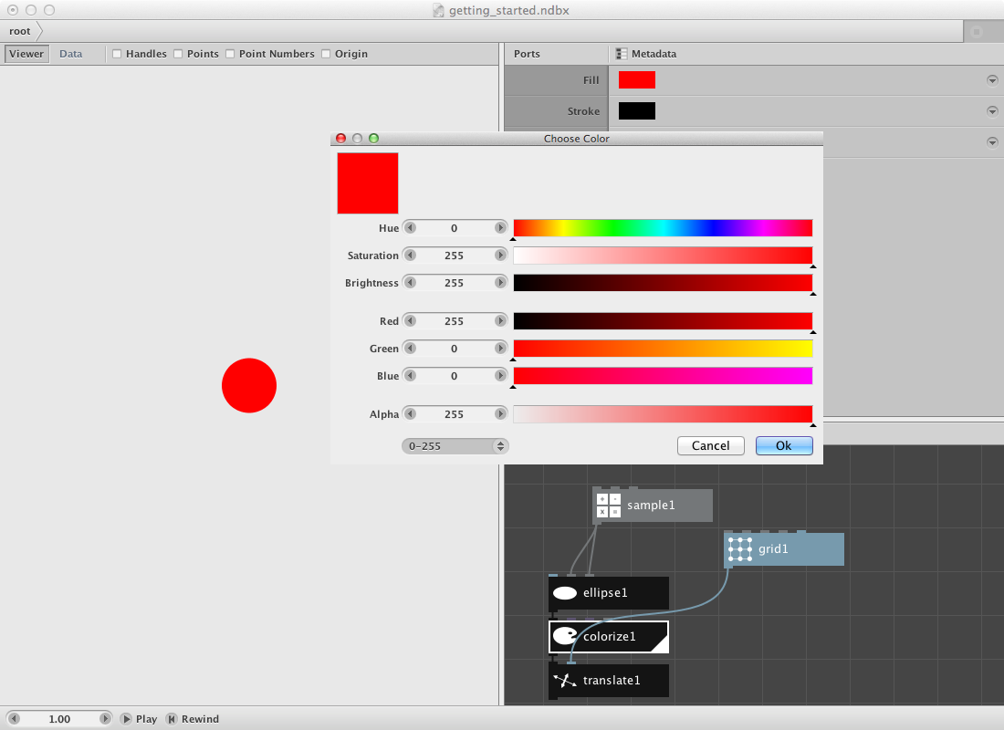 Nodebox color picker