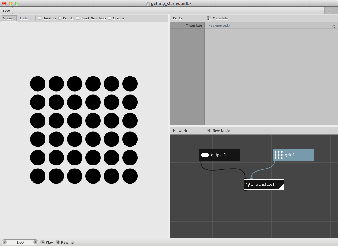 An alternative way of putting ellipses on a grid